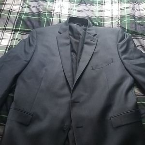 Calvin klein 100% wool suit jacket navy